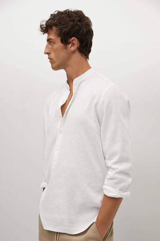 biały Mango Man - Koszula BOLAR Męski