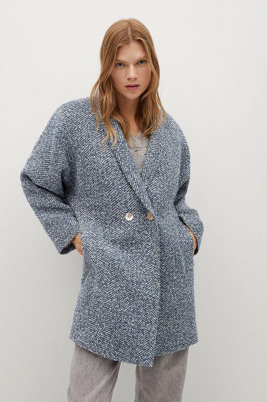 modrá Mango - Kabát CATANIA Dámsky