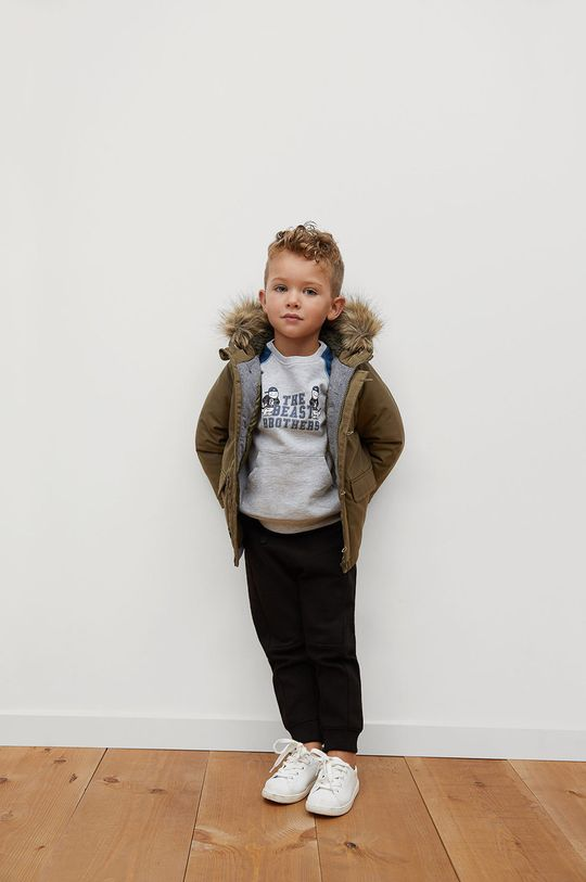 Mango Kids - Detská bunda JORDAN zlatohnedá