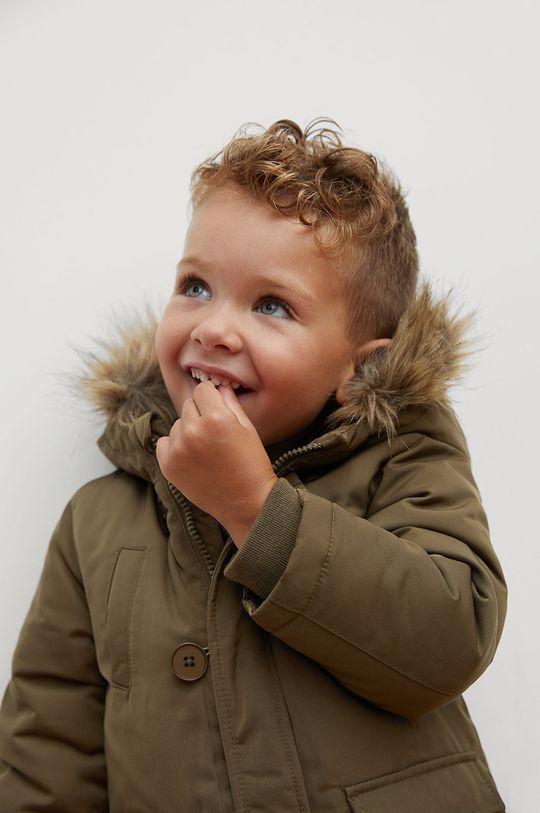 Mango Kids - Detská bunda JORDAN  Podšívka: 100% Polyester Výplň: 100% Polyester Základná látka: 100% Polyester Kožušina: 65% Akryl, 17% Modacryl, 18% Polyester Podšívka kapucne : 100% Polyester Podšívka rukáva: 100% Polyester