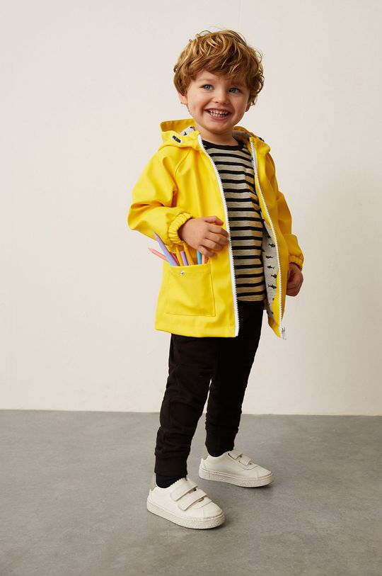 żółty Mango Kids - Kurtka przeciwdeszczowa dziecięca Rain 80-104 cm Chłopięcy