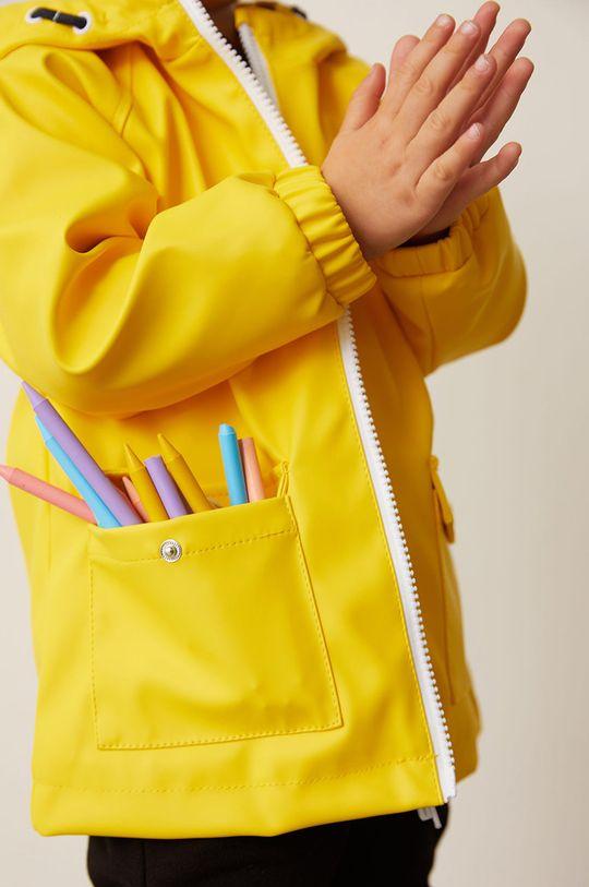 Mango Kids - Kurtka przeciwdeszczowa dziecięca Rain 80-104 cm żółty