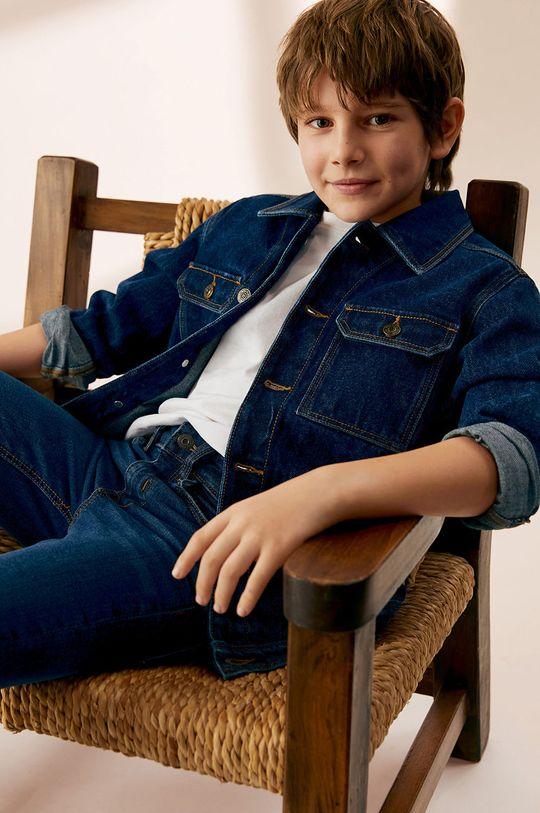 morski Mango Kids - Kurtka jeansowa dziecięca Paul 110-164 cm Chłopięcy