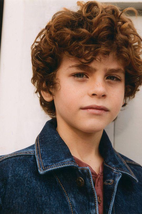 Mango Kids - Kurtka jeansowa dziecięca Paul 110-164 cm morski