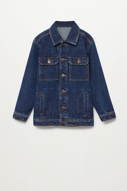 Mango Kids - Kurtka jeansowa dziecięca Paul 110-164 cm 100 % Bawełna