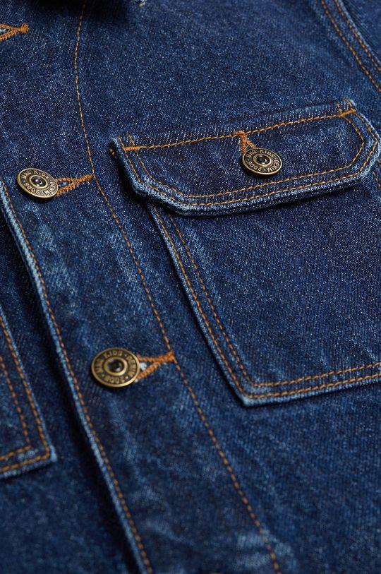 morski Mango Kids - Kurtka jeansowa dziecięca Paul 110-164 cm