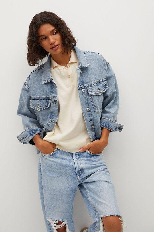 niebieski Mango - Kurtka jeansowa RACHEL Damski