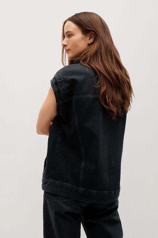 Mango - Kamizelka jeansowa ANGY 100 % Bawełna