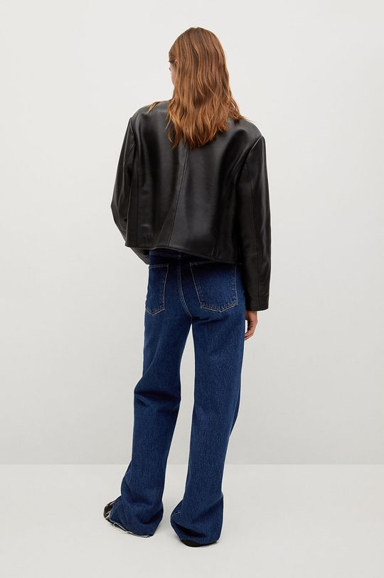 Mango - Kožená bunda QUEEN  Podšívka: 100% Polyester Základná látka: 100% Prírodná koža