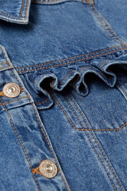 Mango Kids - Kurtka jeansowa dziecięca Norma 110-164 cm niebieski