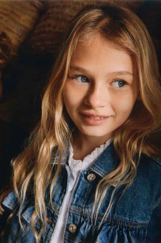 Mango Kids - Kurtka jeansowa dziecięca Norma 110-164 cm 100 % Bawełna