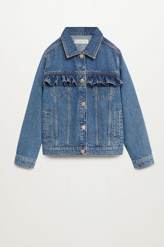 niebieski Mango Kids - Kurtka jeansowa dziecięca Norma 110-164 cm