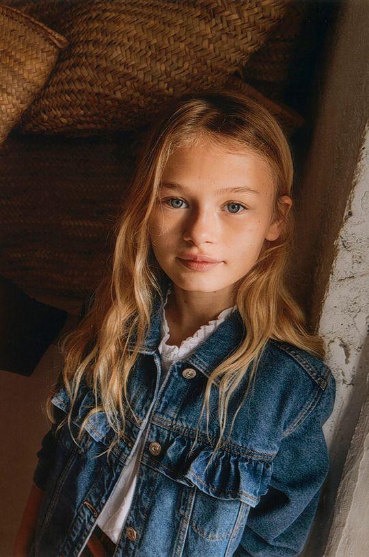 Mango Kids - Kurtka jeansowa dziecięca Norma 110-164 cm