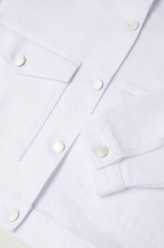 biela Mango Kids - Detská rifľová bunda Blanqui