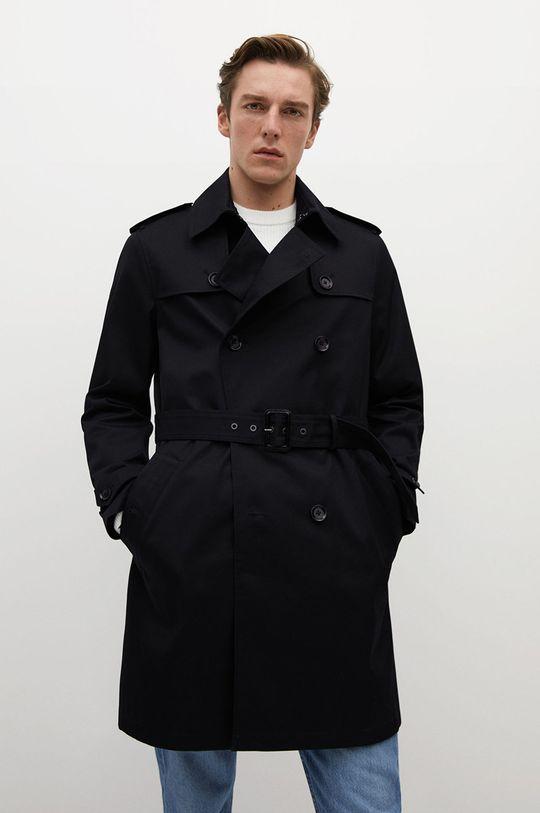 černá Mango Man - Trench kabát TANGO Pánský