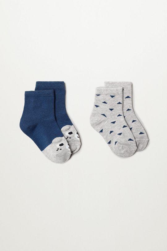 niebieski Mango Kids - Skarpetki dziecięce PUPPY (2-PACK) Chłopięcy