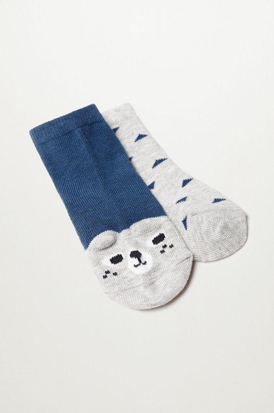 Mango Kids - Detské ponožky PUPPY (2-pak) modrá