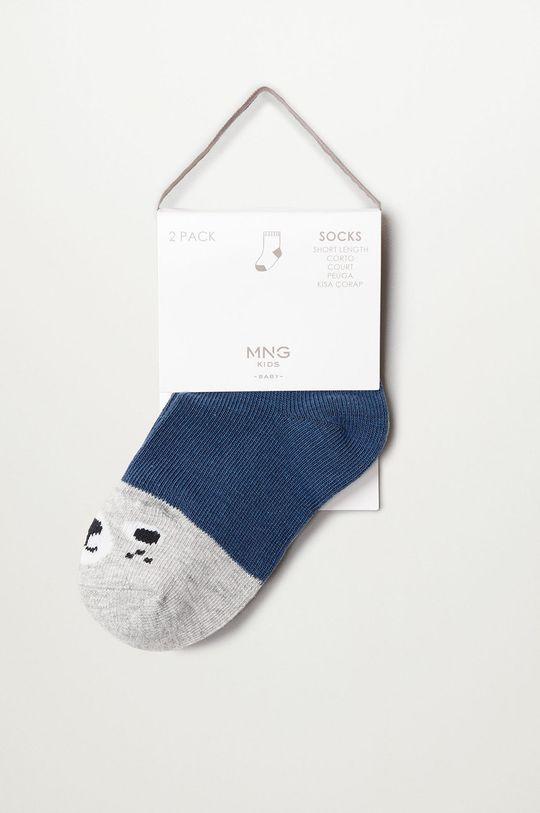 modrá Mango Kids - Detské ponožky PUPPY (2-pak)