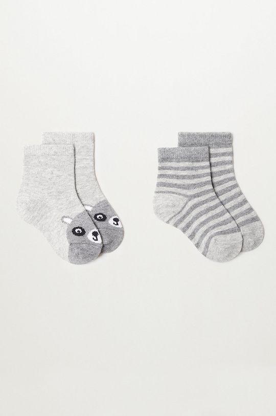 sivá Mango Kids - Detské ponožky MAPACHE (2-pak) Chlapčenský
