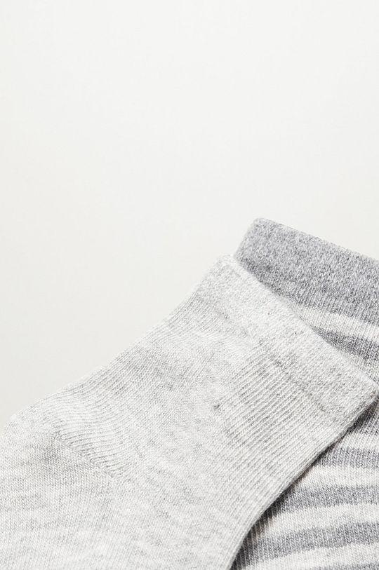 Mango Kids - Detské ponožky MAPACHE (2-pak) sivá