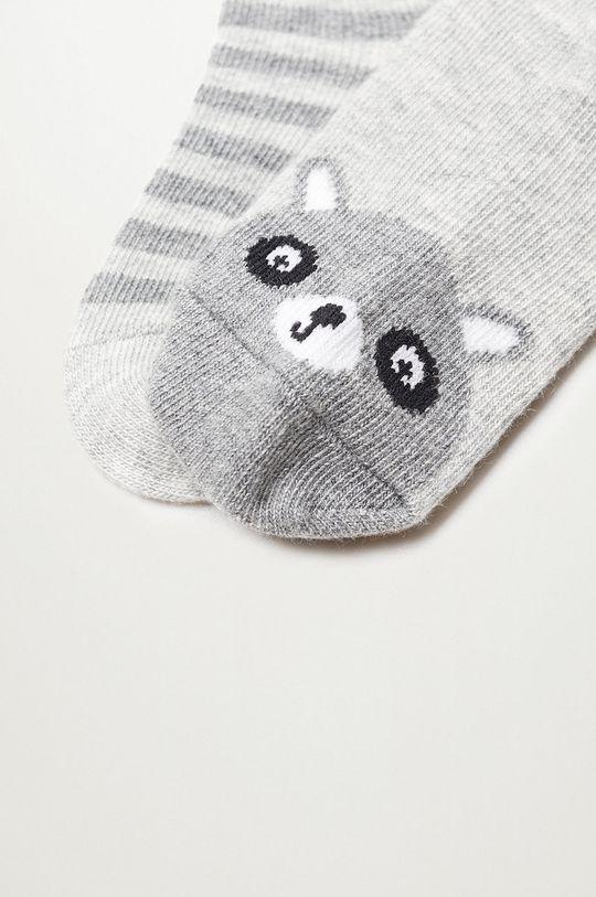 Mango Kids - Detské ponožky MAPACHE (2-pak)  70% Bavlna, 3% Elastan, 27% Polyester