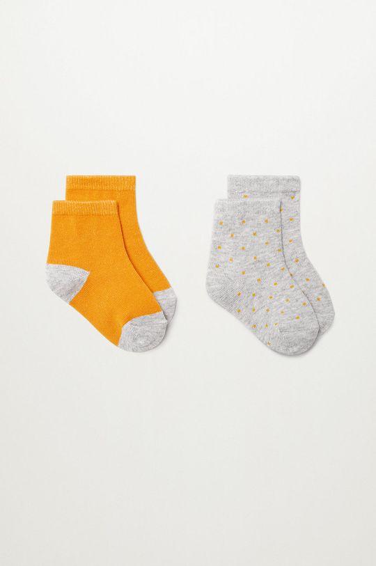 žltá Mango Kids - Detské ponožky SQUARE (2-pak) Chlapčenský