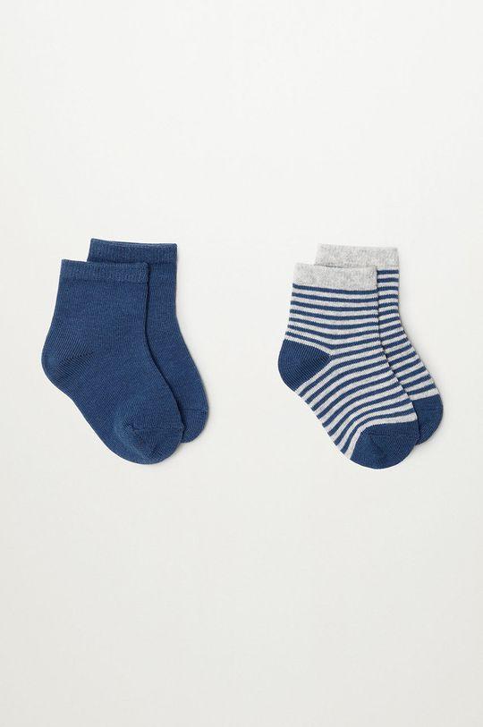 modrá Mango Kids - Detské ponožky CHOP (2-pak) Chlapčenský