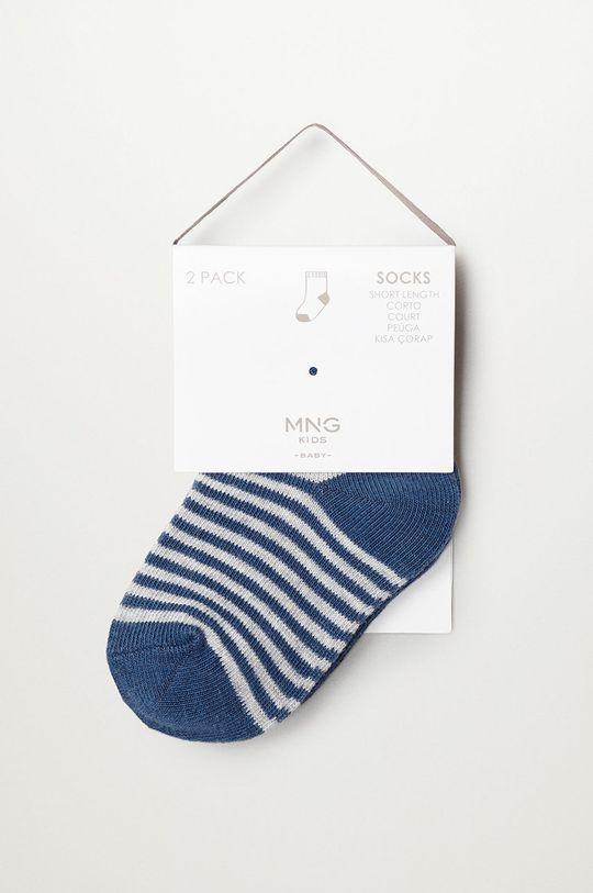 modrá Mango Kids - Detské ponožky CHOP (2-pak)