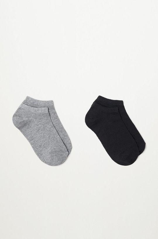 sivá Mango Kids - Detské ponožky TOBI (2-pak) Chlapčenský