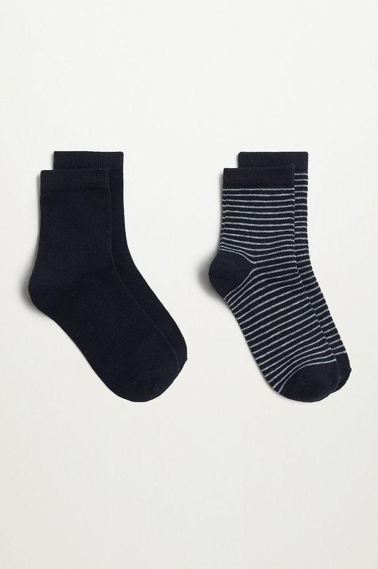 čierna Mango Kids - Detské ponožky BLACK (2-pak) Chlapčenský
