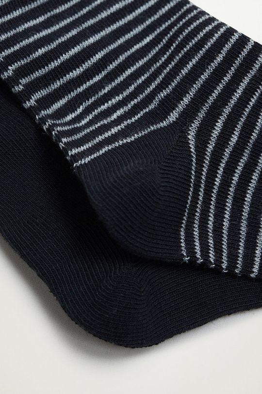 Mango Kids - Detské ponožky BLACK (2-pak) čierna