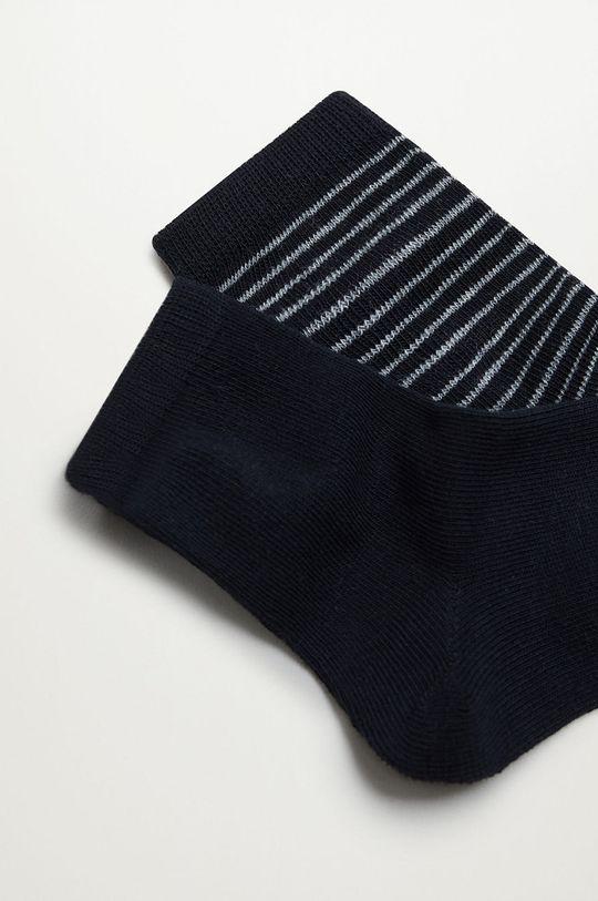 Mango Kids - Detské ponožky BLACK (2-pak)  70% Bavlna, 3% Elastan, 27% Polyester