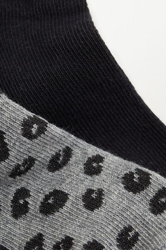 Mango Kids - Detské ponožky CORA (2-pak) čierna