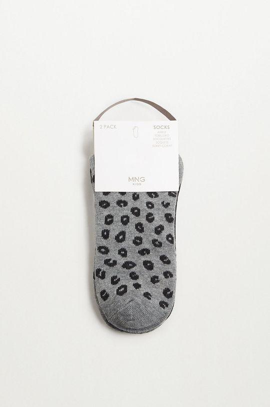 čierna Mango Kids - Detské ponožky CORA (2-pak)