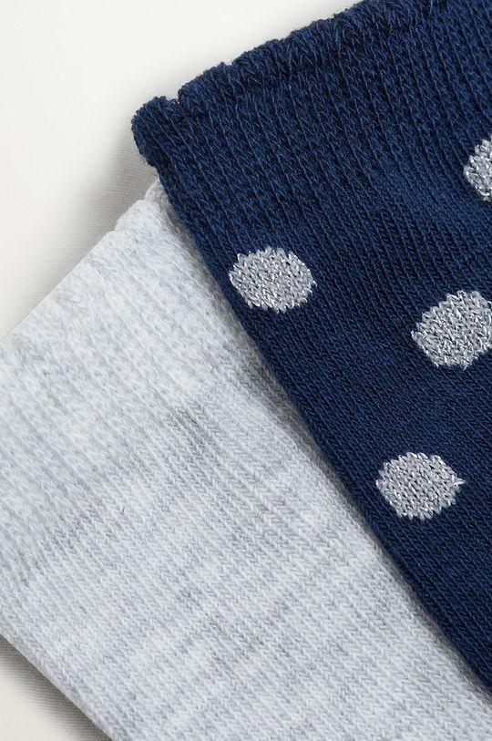 Mango Kids - Detské ponožky TOPO (2-pak) tmavomodrá