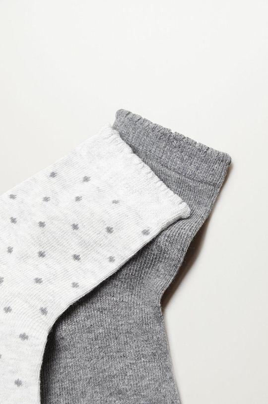 Mango Kids - Detské ponožky TOPITO (2-pak) sivá