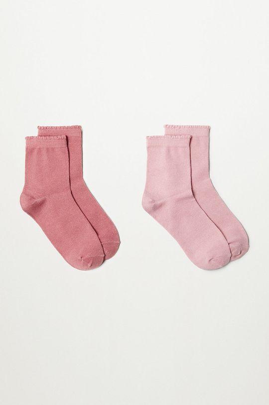 ružová Mango Kids - Detské ponožky SCALLOP (2-pak) Dievčenský