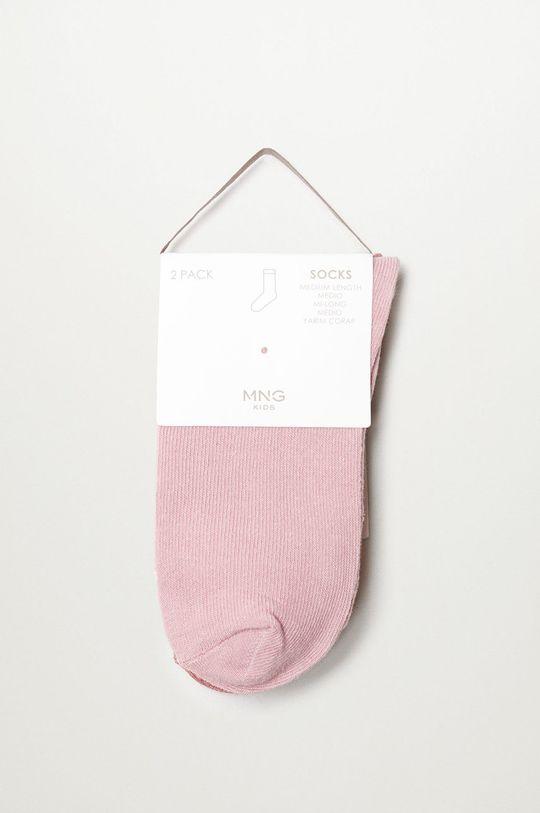 ružová Mango Kids - Detské ponožky SCALLOP (2-pak)