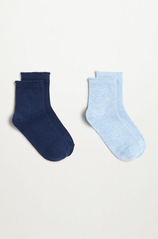 modrá Mango Kids - Detské ponožky SCALLOP (2-pak) Dievčenský