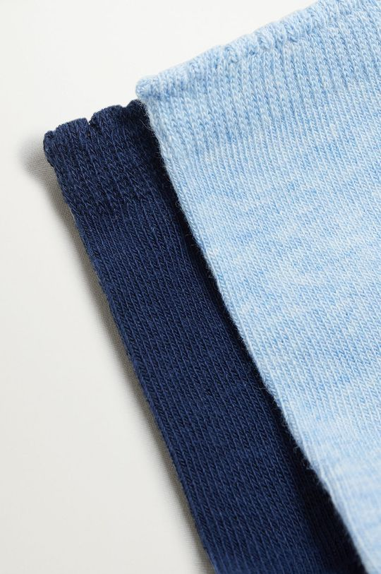 Mango Kids - Detské ponožky SCALLOP (2-pak) modrá
