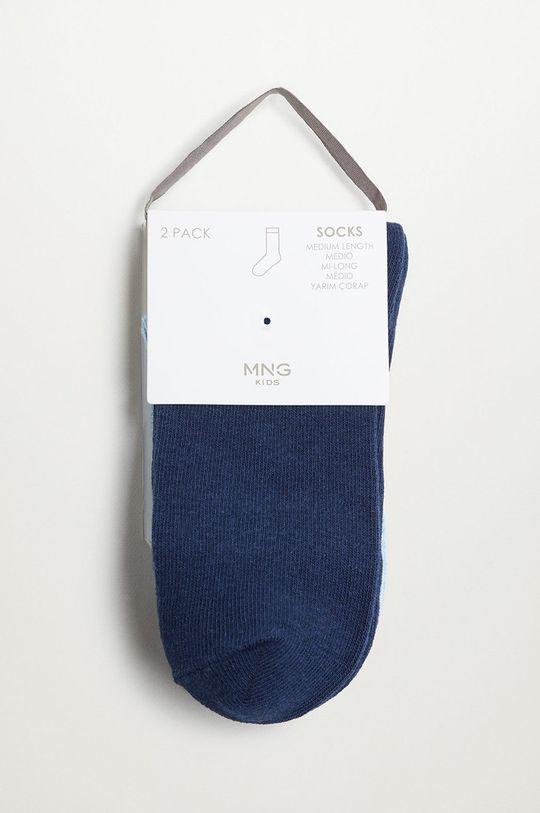 modrá Mango Kids - Detské ponožky SCALLOP (2-pak)