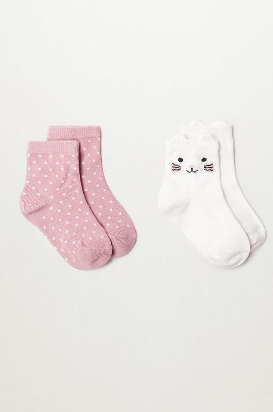 ružová Mango Kids - Detské ponožky OSITO (2-pak) Dievčenský