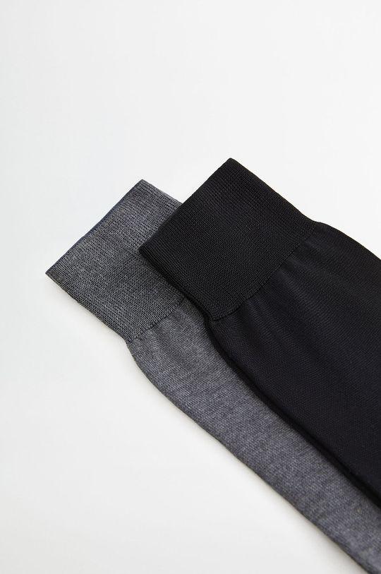 Mango Man - Sosete SCOTLIGN (2-pack) negru