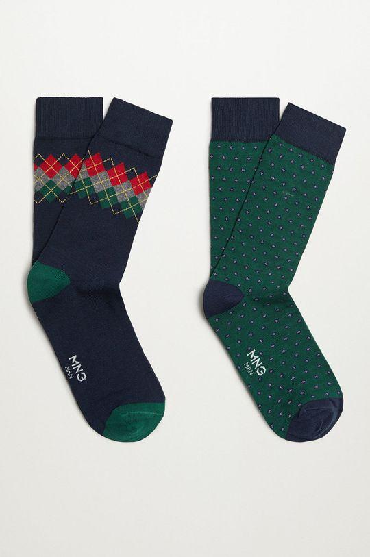 zelená Mango Man - Ponožky MIXRAPU (2-pak) Pánsky