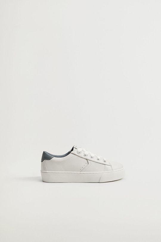 biela Mango Kids - Detské kožené topánky YOUNG Chlapčenský