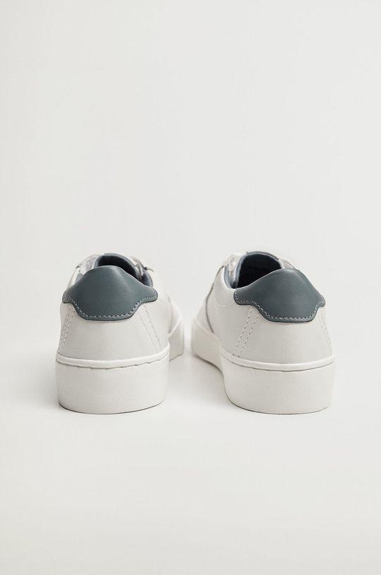 biela Mango Kids - Detské kožené topánky YOUNG