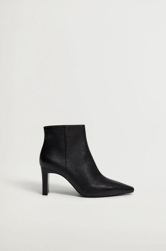 čierna Mango - Členkové topánky MOON Dámsky