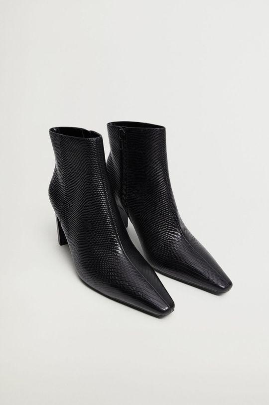 čierna Mango - Členkové topánky MOON