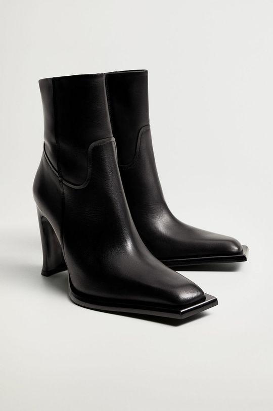 Mango - Kožené členkové topánky GIANNI  Zvršok: Teliaca koža Podrážka: Termoplastická guma Vložka: Textil
