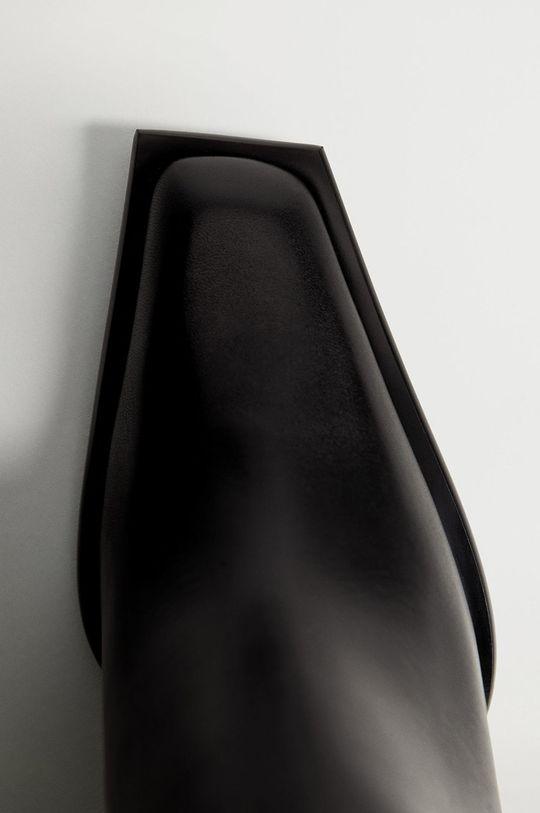 Mango - Kožené členkové topánky GIANNI